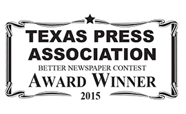 2015 Texas Press Association Award Winner