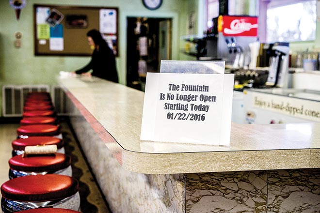 Iconic Woodville Soda Fountain Closes—After 52 years, Jarrott's Ole Time Soda Fountain (now in Dogwood Pharmacy) has closed. Generations of Tyler County folks have sat at that soda fountain, eating the delicious sandwiches, ice cream and drinking coffee while chatting with friends. (Emily Waldrep Photo)