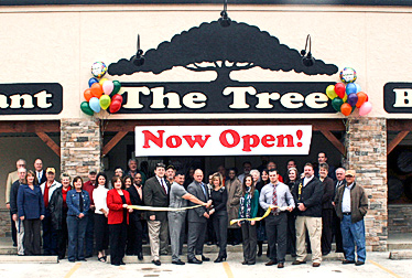 Chamber members gather to welcome The Tree restaurant to Woodville