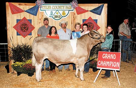 2013 Tyler County Fair totals $249,296.50 in sales