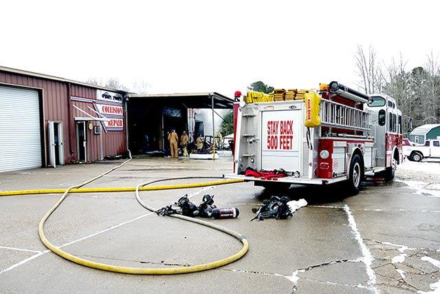 Pate's Collision Repair damaged in Friday morning fire