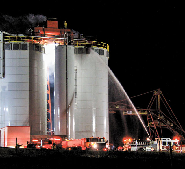German Pellet fire suspends operations