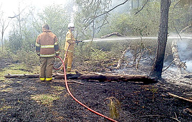 Colmesneil VFD responds to brush fire.