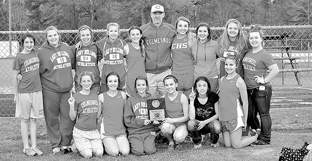 Junior High Lady Dogs dominate in Track District Championship