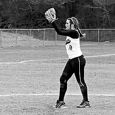 Pitcher McKenzie McGallion throws another ball to High Island during their blowout win.