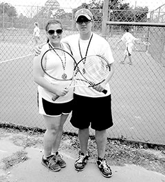 Spurger competes in the Woodville tennis tournament