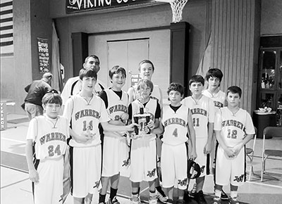 Warren Jr. High boys took 1st Place in All Saints Basketball Tourney