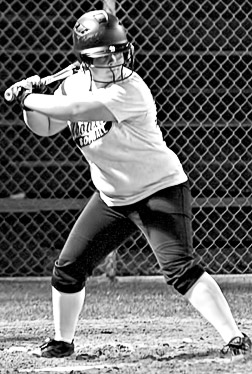 Jessica Bronstad goes to bat for the Woodville varsity softball team against LCM on February 7.
