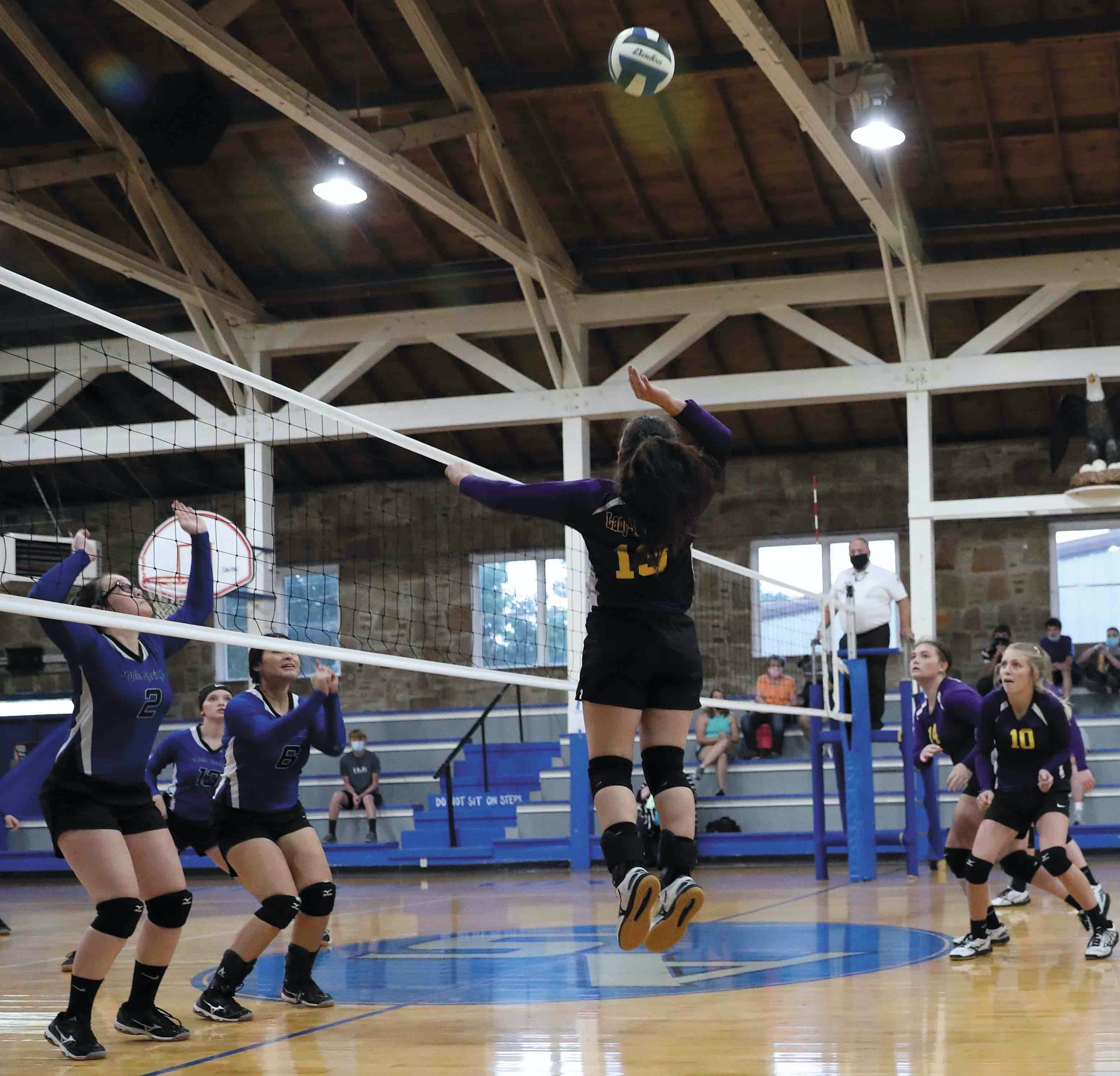 Lady Jackets sweep Apple Springs in first District match