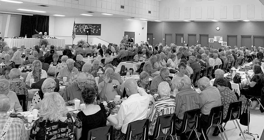 "Kirby High School Class of '69 were honored May 4, at the Woodville Elementary School cafeteria at the annual school reunion, getting their first invite 50 years after they graduated, under this year's theme of ""Under the Magnolias.""  (MICHAEL G. MANESS 