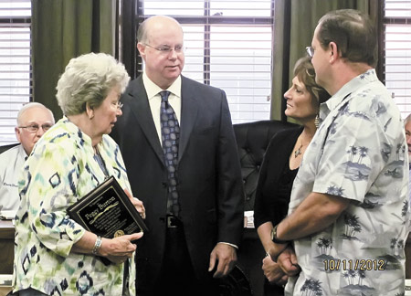 Peggy Burton honored for years of service