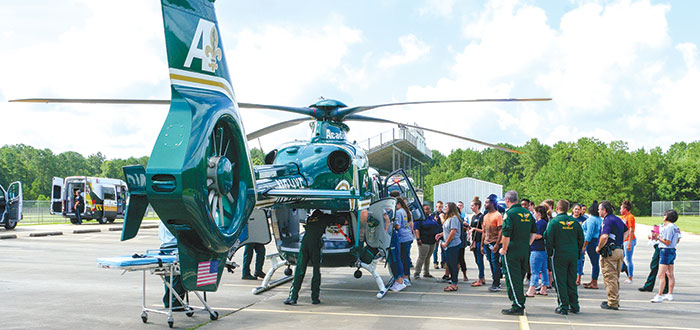 Teen Police Academy gets emergency airlift demo