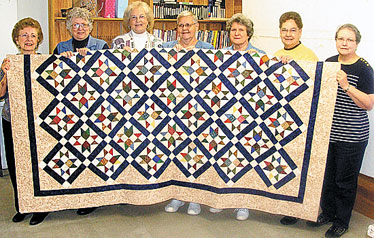 Sassy Scappers Donate Quilt for WVFD Raffle