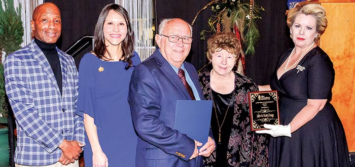 Chamber presents lifetime achievement award to John and Mary Stagg