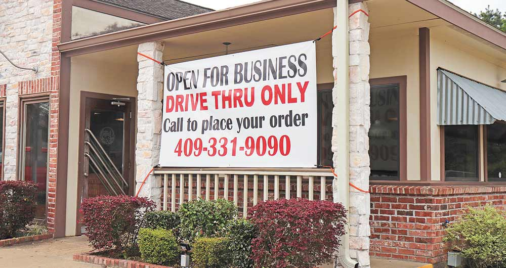 Drive thru only  Restaurants have been ordered to eliminate the dining-in option for the time being, and go to drive-thru, curbside or delivery services only ICHRIS EDWARDS | TCB PHOTO)