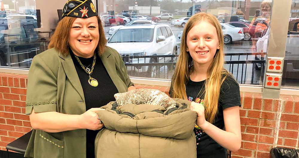 Moved to serve: Colmesneil elementary student helps homeless veterans