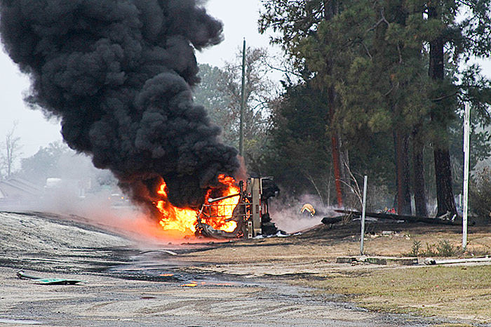Truck driver dies in fiery Hillister crash Friday Morning