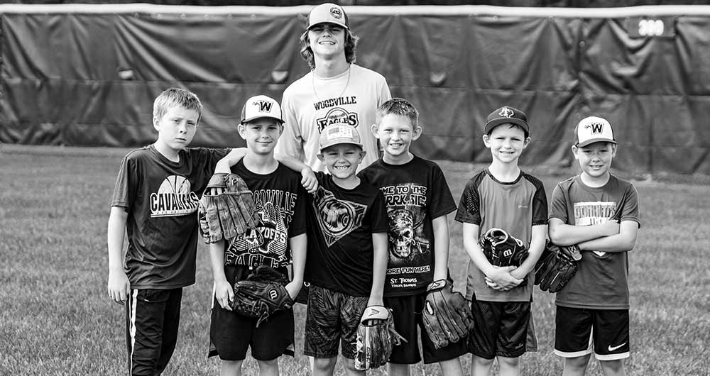 Woodville Eagles host youth baseball camp